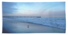Beach Towel featuring the photograph Blue Dawn by Art Block Collections