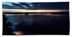 Blue Dawn On Casco Bay Beach Sheet
