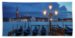 Beach Towel featuring the photograph Blue Dawn Over Venice by Brian Jannsen
