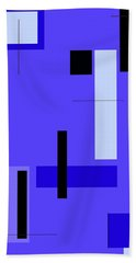 Blue Design 1 Vertical Beach Towel