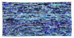 Blue Digital Noise Beach Towel