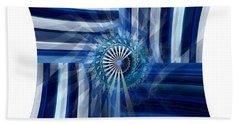 Blue Dimension  Beach Sheet by Thibault Toussaint