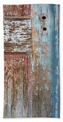 Blue Door Crackle Beach Towel