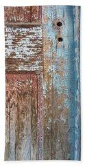 Blue Door Crackle Beach Towel
