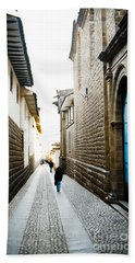 Blue Door In Cusco Beach Towel by Darcy Michaelchuk