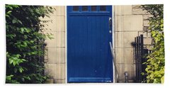 Blue Door In Ivy Beach Towel