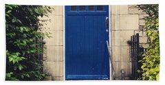 Blue Door In Ivy Beach Sheet