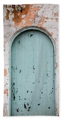 Blue Door Beach Sheet by Jean Haynes
