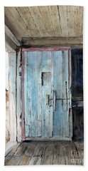Blue Door  Beach Sheet