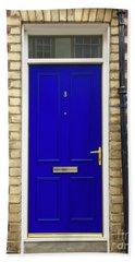 Blue Door Number 3 Beach Sheet