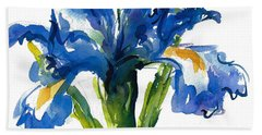 Blue Dutch Iris For Kappa Kappa Gamma Beach Towel