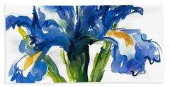 Blue Dutch Iris For Kappa Kappa Gamma Beach Sheet