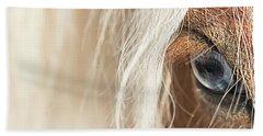 Blue Eyed Horse Beach Towel