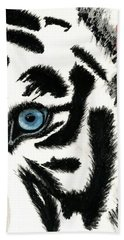 Blue-eyed Tiger Beach Towel