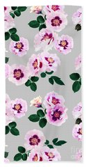 Blue Eyes Roses Beach Towel
