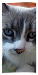 Blue Eyes Beach Towel