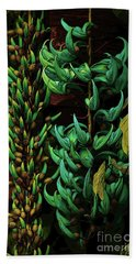 Blue Jade Vine Beach Towel
