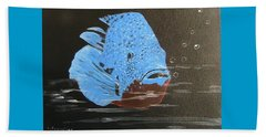 Blue Fish Beach Towel by Catherine Swerediuk