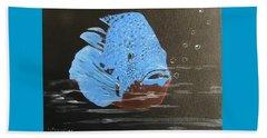 Blue Fish Beach Sheet by Catherine Swerediuk