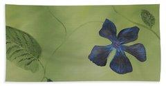 Blue Flower On A Vine Beach Sheet