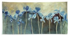 Blue Flowers Beach Towel