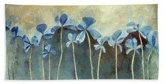 Blue Flowers Beach Sheet by Cynthia Decker
