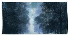 Blue Forest 2 Beach Towel by Bekim Art