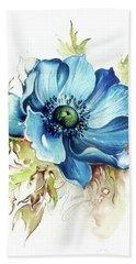 Beach Towel featuring the painting Blue Gem by Anna Ewa Miarczynska