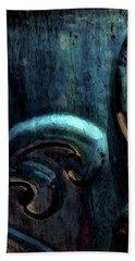 Blue Glazed Vessel Detail Digital Painting 2365 Dp_2 Beach Sheet