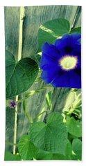 Blue Glory Bloom Beach Towel