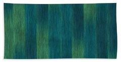 Blue Green Abstract 1 Beach Towel
