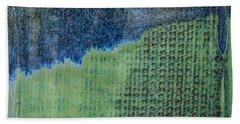 Blue/green Abstract Two Beach Towel