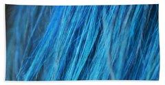 Blue Hair Beach Towel