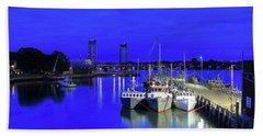 Blue Harbor-portsmouth Beach Towel