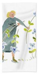 Blue Harvest Beach Sheet by Leanne WILKES