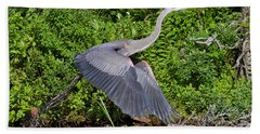 Blue Heron Beach Towel