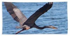 Blue Heron Wingspan Beach Towel