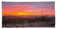 Blue Hill Overlook Alpenglow Beach Towel