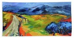 Blue Hills By Elise Palmigiani Beach Sheet