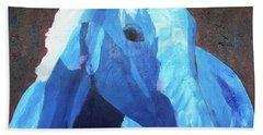 Blue Horse Beach Towel