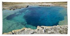 Blue Hot Springs Yellowstone National Park Beach Towel