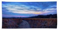 Blue Hour After Sunset At Retzer Nature Center Beach Towel by Jennifer Rondinelli Reilly - Fine Art Photography