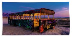 Blue Hour Bus Beach Sheet