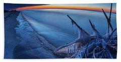 Blue Hour Fisheye Beach Towel