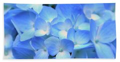 Blue Hydrangea Beach Sheet