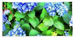Blue Hydrangea Beach Sheet