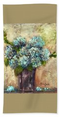 Blue Hydrangeas Beach Towel