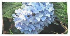 Blue Hydrangnea Beach Sheet
