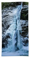 Blue Ice And Water Beach Towel