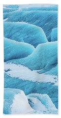 Blue Ice Svinafellsjokull Glacier Iceland Beach Towel by Matthias Hauser